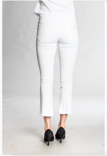 Two Angels - Kick flare jeans / White