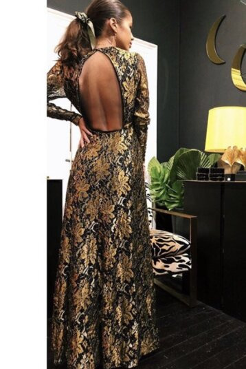Co´Couture - Turner Maxi klänning / Gold