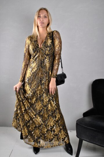 Co´Couture - Turner Maxi klänning Gold