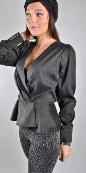 Co´couture - Justin wrap blouse Black