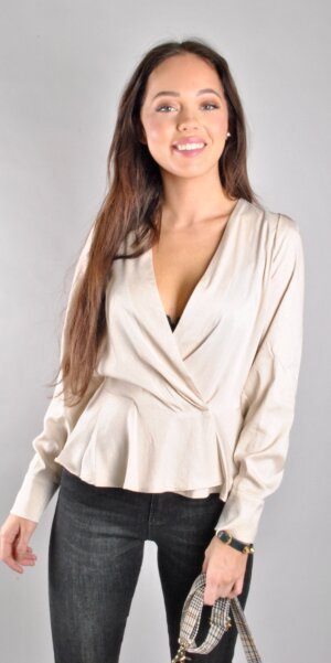 Co´couture - Justin wrap blouse Creme