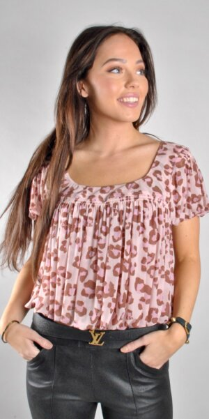 Free people - Blush combo top Pink Leo