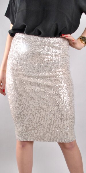 Co´couture - Glitter skirt Creme