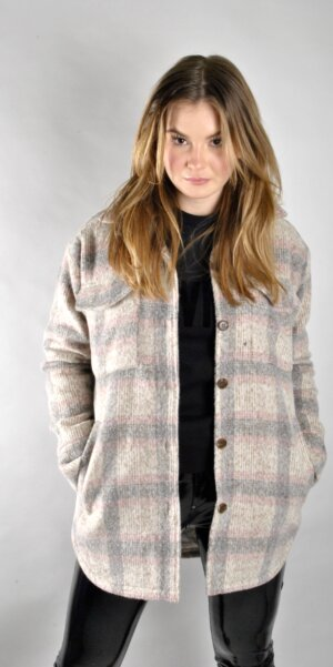 Neo Noir - Pike melange check jacket Rose