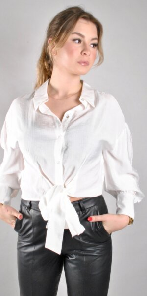 Co´couture - Remi Band Tie shirt white
