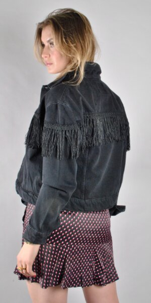 ALIX The Label - DENIM JACKET WITH FRINGES