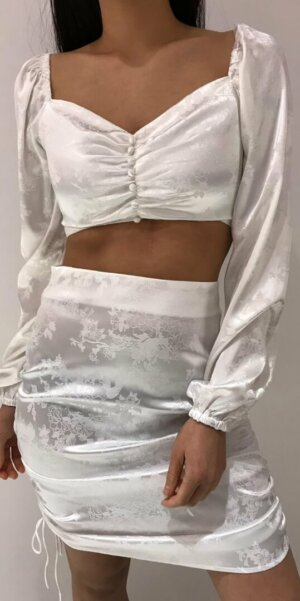 Angel - Crop top flower / White EP16227