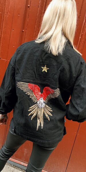 Angel - Oversize jacket ⭐️-Eagle / Black denim