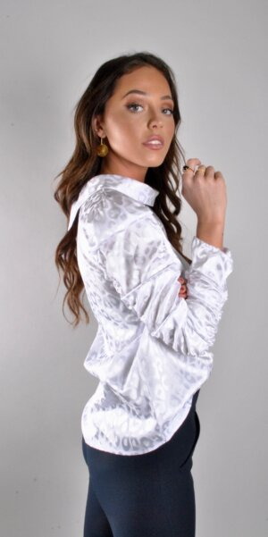 Angel - White Leopard top / White X282