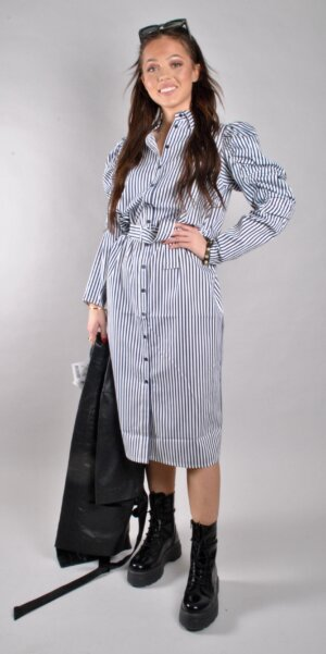 Just female - Sandra dress / stripe