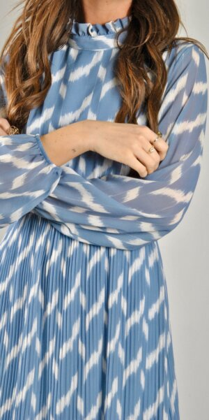 Angel - pleated dress / Light blue