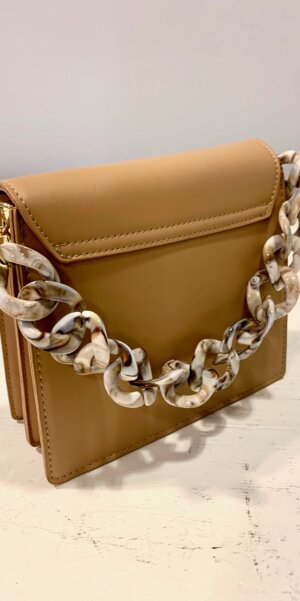 Angel - Square Bag with chain / Brown