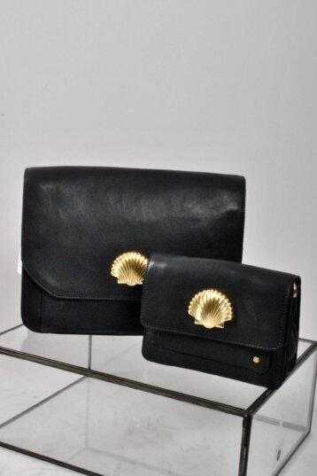 DEPECHE - Leaether bag W shell / 2 Sizes