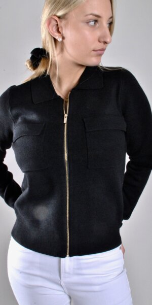 MSCH -Ellen Zip cardigan / Black