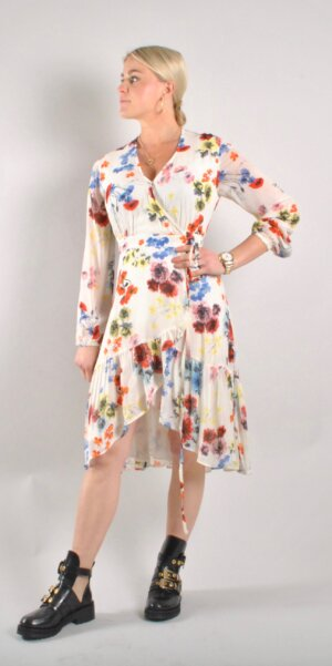 Alix The Label - Flower Chiffon Dress // Soft White