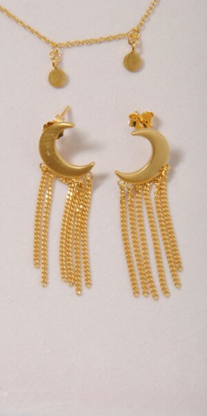 Enamel - Earrings Midnight // Gold