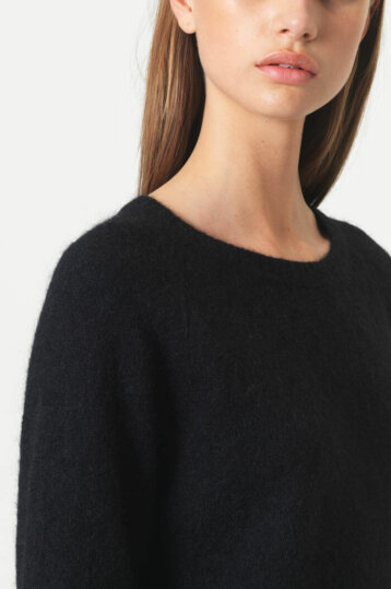 Second Female - Brooke Knit New Loos O-Neck / Black