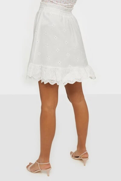 Co´Couture - Leila Anglaise Smock Skirt / White