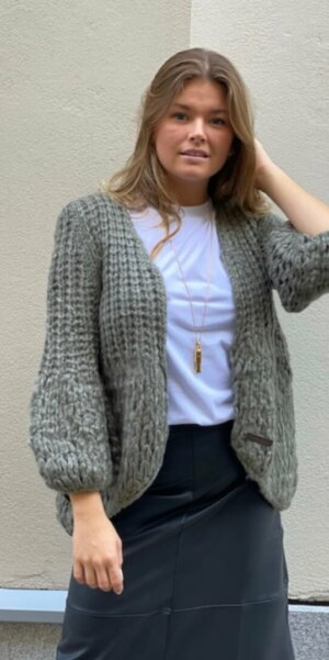 Angel - Puff Cardigan / Dusty Green